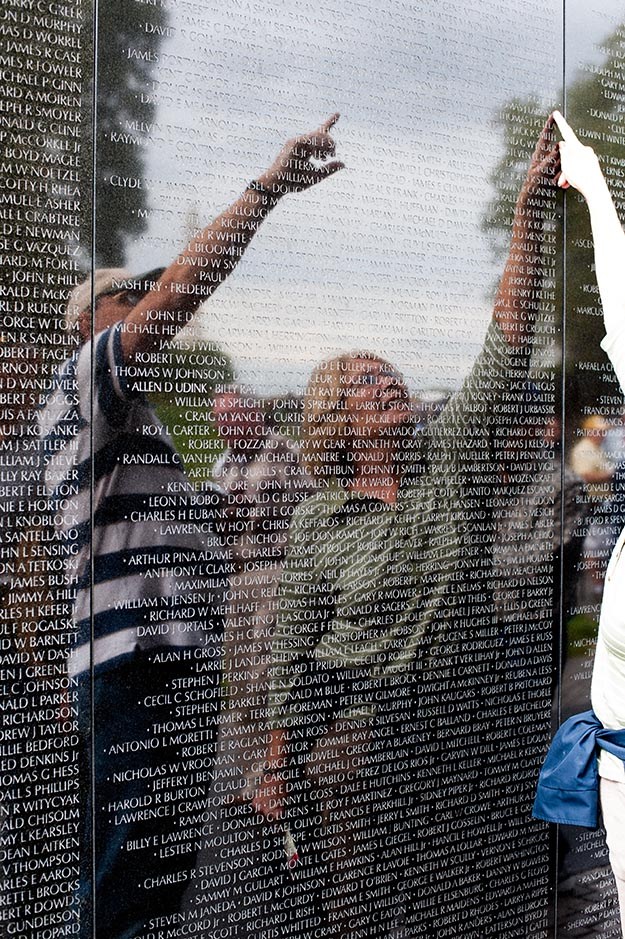 The Vietnam Veterans Memorial in the National Mall,Washington DC