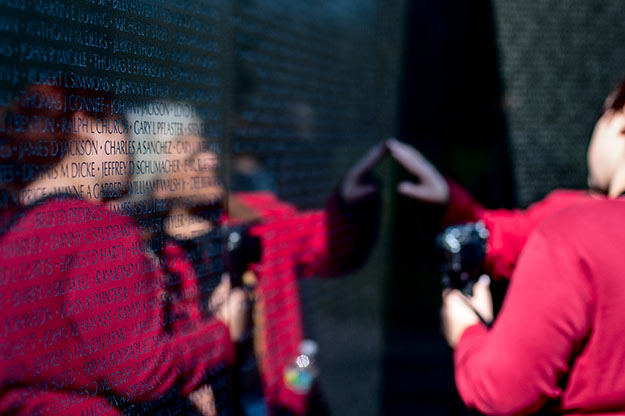 The Vietnam Veterans Memorial in the National Mall,Washington DC