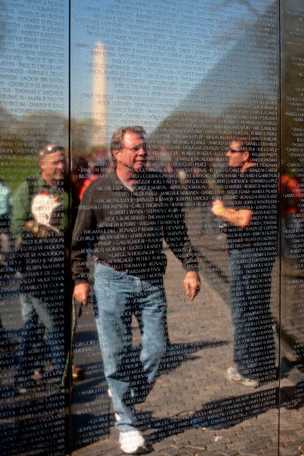 Vietnam Veterans Memorial in the National Mall, Washington DC.