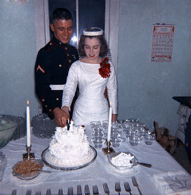 Mom and Dad's wedding day. January 1962