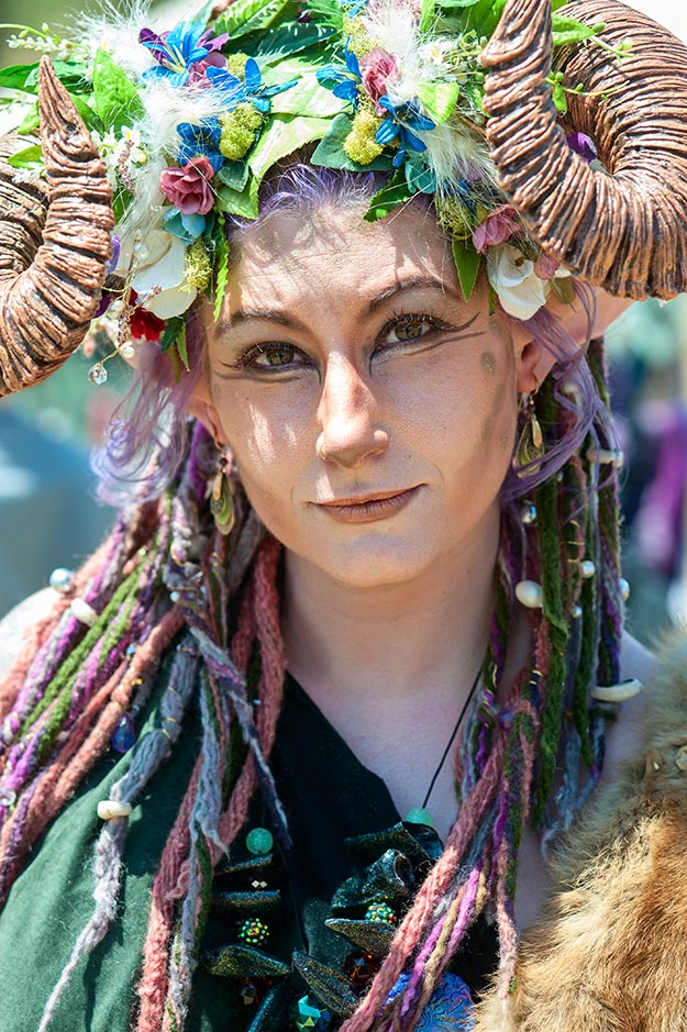 A Female Faun at the 22nd Annual Fairie Festival 2013