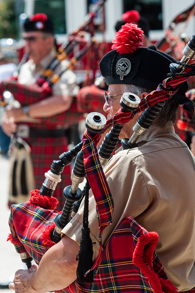 Bagpiper from Kiltie Band of York.