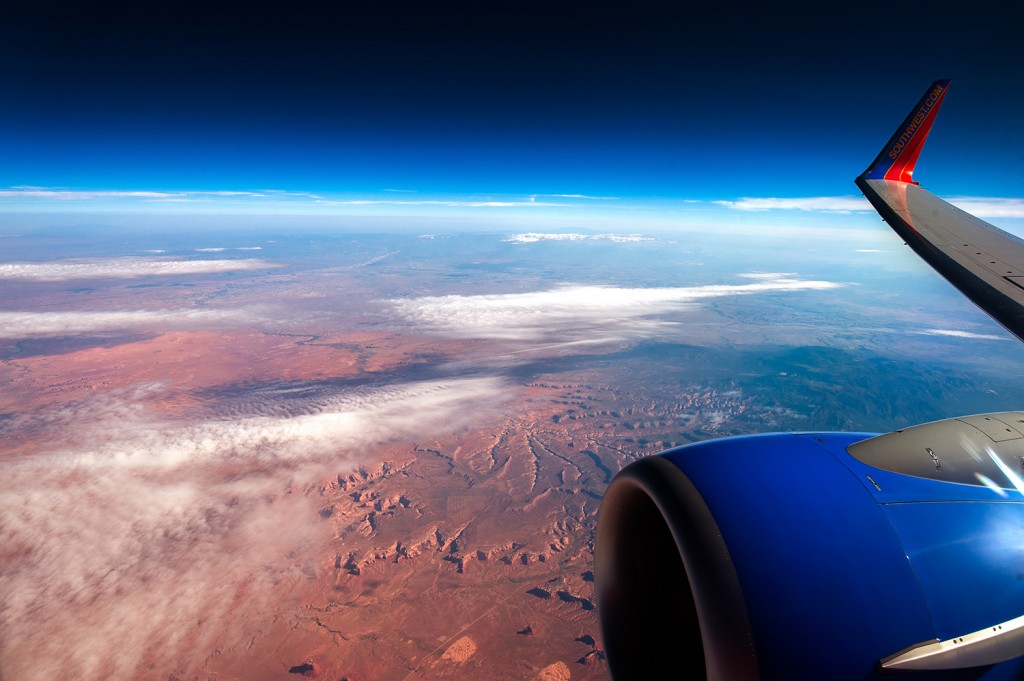 Monument Valley as seen from our aircraft on our Las Vegas Vacation