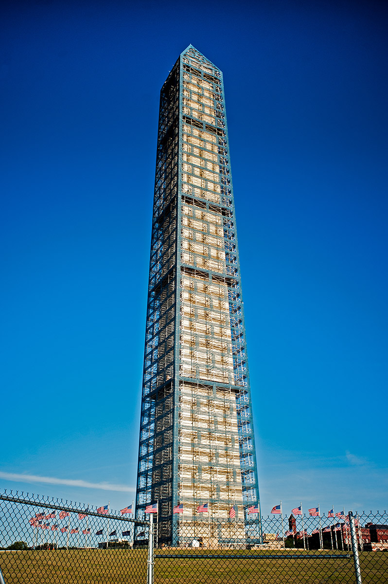 The Washington Monument Under Repair