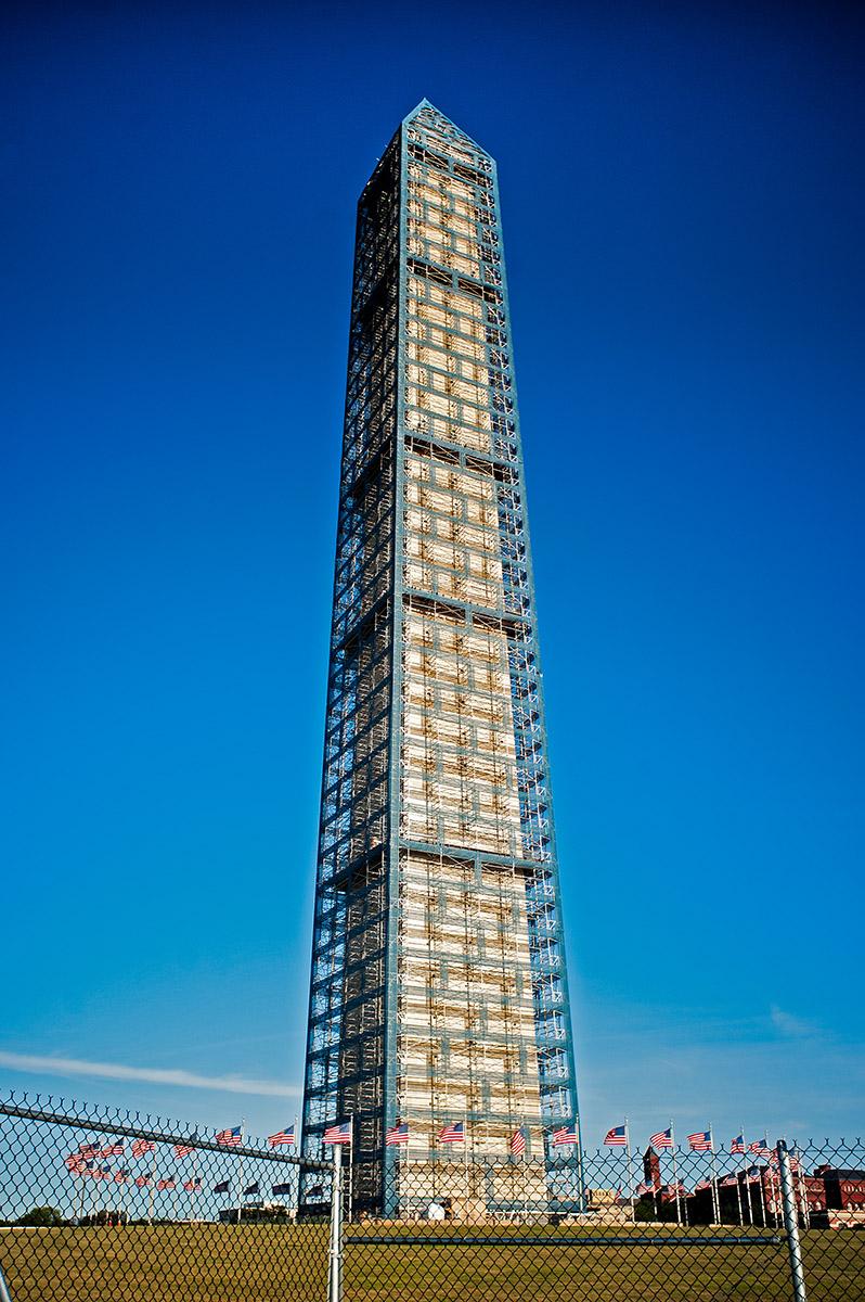 The Washington Monument Under Repair