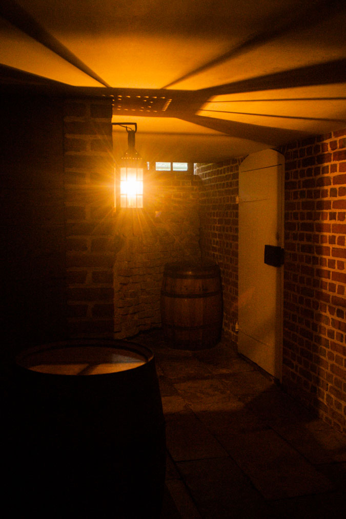 In the cellars of The Governor's Palace at Colonial Williamsburg