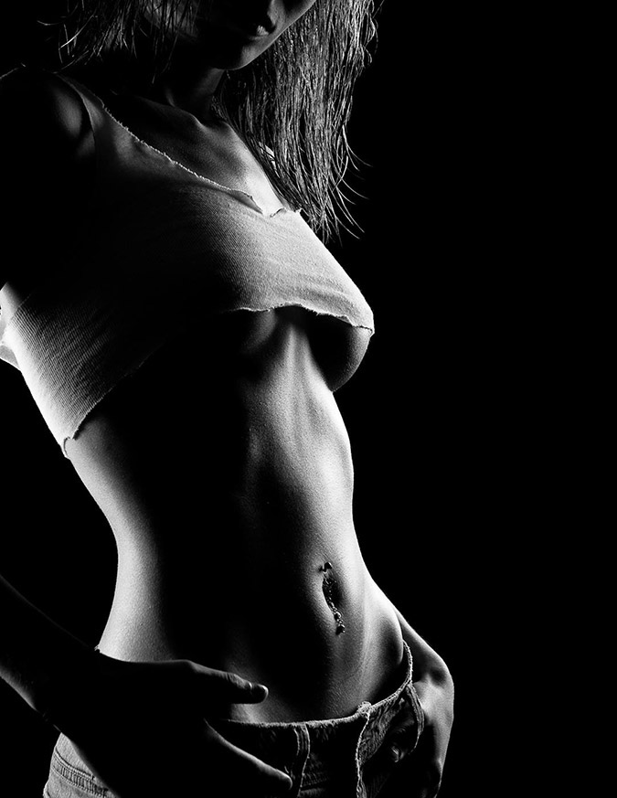 High contrast non nude bodyscape photography