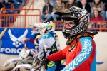 Racer on the starting gate and ready to race at Motorama 2015 in Harrisburg, PA
