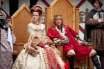 Queen Catherine of Aragon (played by Megan Jones) and Henry VIII, by the Grace of God, King of England, France and Lord of Ireland (played by Zach Minder) and Charles Brandon (played by Brian Huff) at the 2016 Pennsylvania Renaissance Faire.