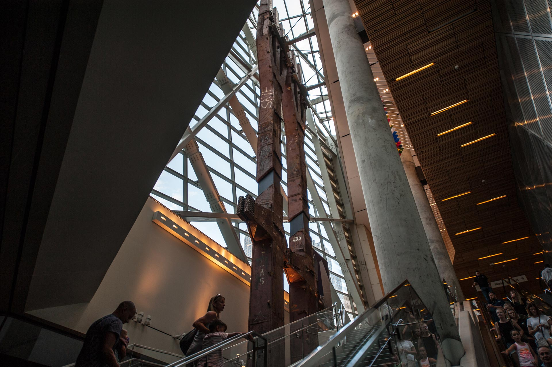 The Tridents at the National September 11 Memorial & Museum in New York, NY, USA