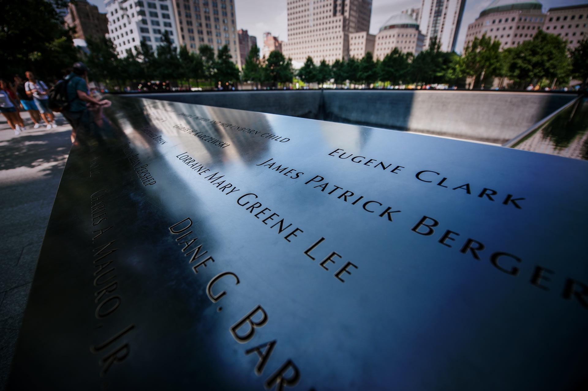 Reflecting Pool at at National September 11 Memorial & Museum in New York, NY, USA