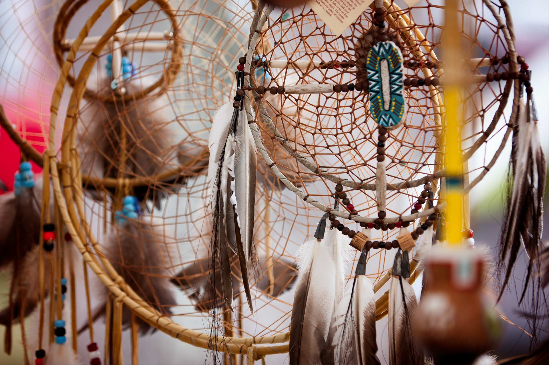 Dream catchers for sale at the Muddy Run Pow-Wow.