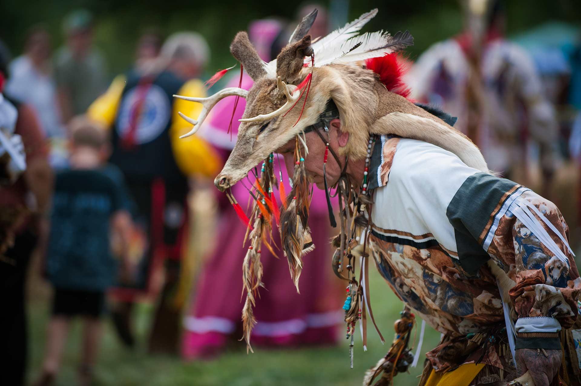 Native American Pow-Wow regalia at the Muddy Run Pow-Wow at Muddy run Park in Holtwood Pennsylvania