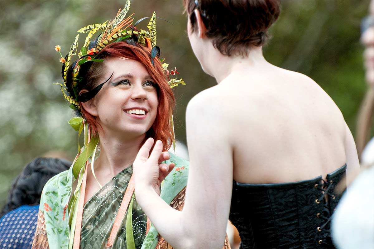 Happy at the 2016 May Day Fairie Festival at Spoutwood Farm in Glen Rock Pennsylvania